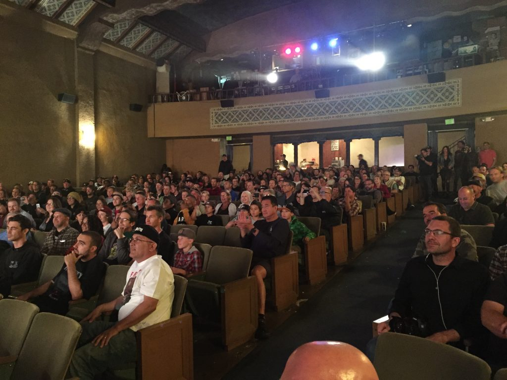 A shot of the audience during the Q&A