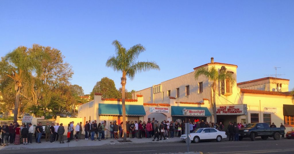 The line at the Box Office of La Paloma Theatre